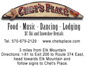 Chet's Place - Food - Music - Dancing - Lodging xc-ski and snowshoe rentals